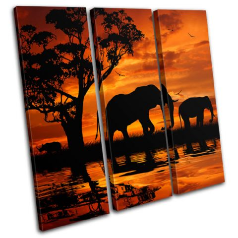 Elephant African Sunset Animals - 13-1793(00B)-TR11-LO